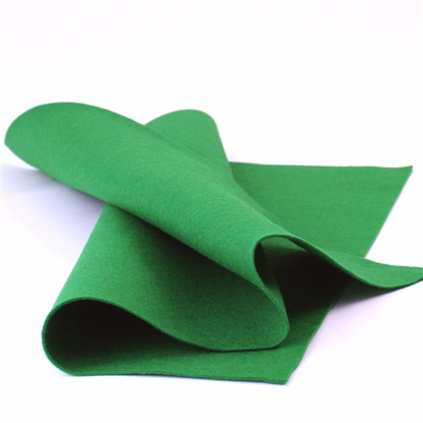 True Green Merino Wool Felt Sheet