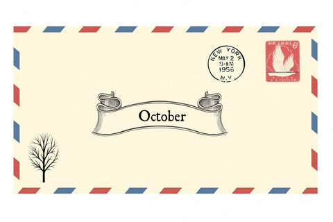 October Envelope - Happy Hedgehog Post