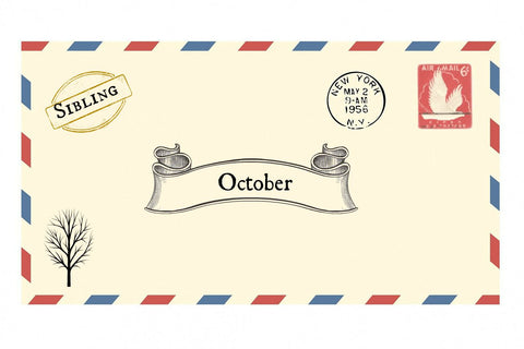 October Envelope + Sibling