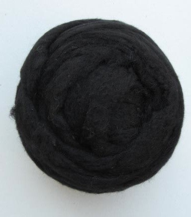 Black Wool Batt - Happy Hedgehog Post