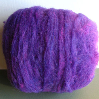 Brenda's Purple Wool Batt - Happy Hedgehog Post