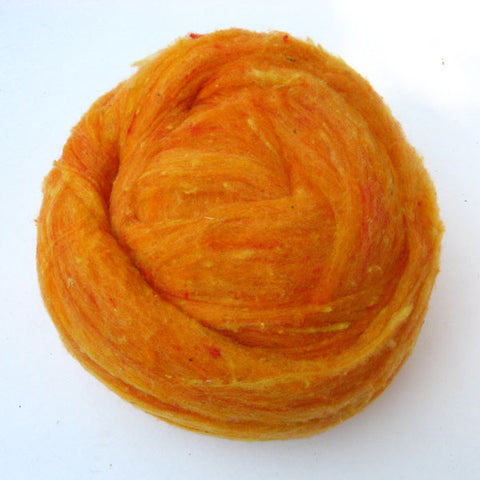 Marigold Wool Batt - Happy Hedgehog Post
