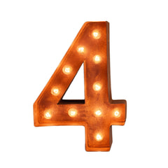 "12"" Number Marquee Lights - 12"" Number 4 (Four) Sign Vintage Marquee Lights"