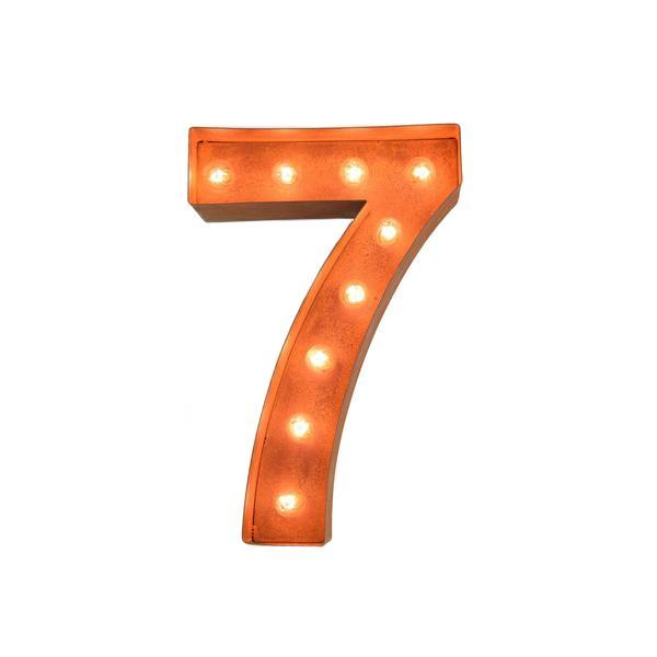 "12"" Number Marquee Lights - 12"" Number 7 (Seven) Sign Vintage Marquee Lights"