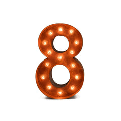 "12"" Number Marquee Lights - 12"" Number 8 (Eight) Sign Vintage Marquee Lights"