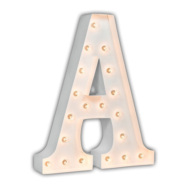 "24"" Marquee Letter Lights - 24"" Letter A Lighted Marquee Letters (White Gloss)"