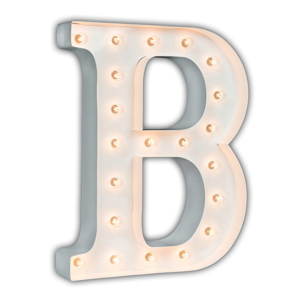 "24"" Marquee Letter Lights - 24"" Letter B Lighted Marquee Letters (White Gloss)"