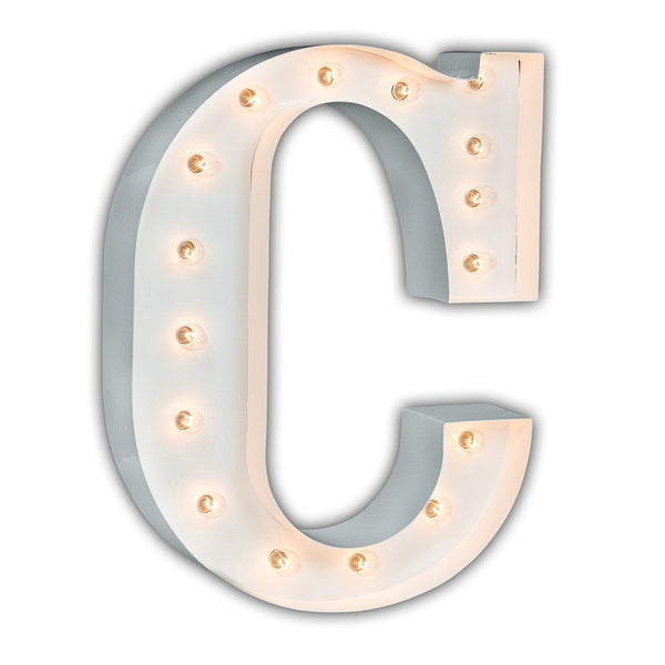 "24"" Letter C Lighted Marquee Letters (White Gloss)"