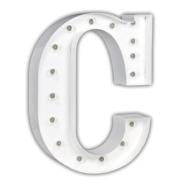 "24"" Marquee Letter Lights - 24"" Letter C Lighted Marquee Letters (White Gloss)"