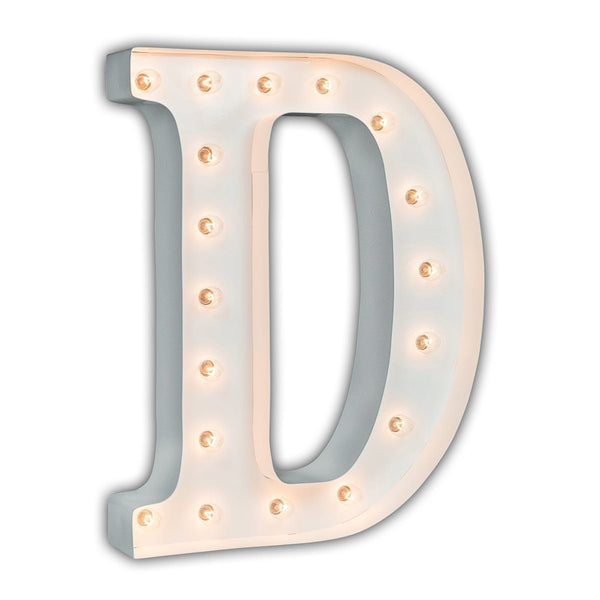 "24"" Marquee Letter Lights - 24"" Letter D Lighted Marquee Letters (White Gloss)"