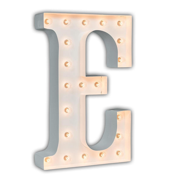 "24"" Marquee Letter Lights - 24"" Letter E Lighted Marquee Letters (White Gloss)"
