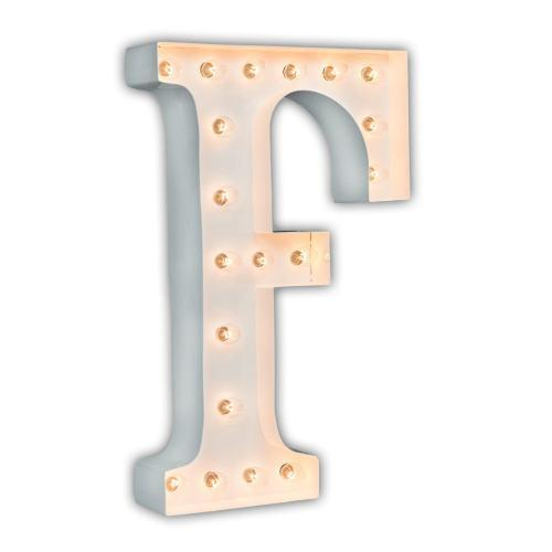 "24"" Letter F Lighted Marquee Letters (White Gloss)"