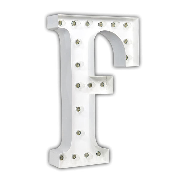 "24"" Marquee Letter Lights - 24"" Letter F Lighted Marquee Letters (White Gloss)"