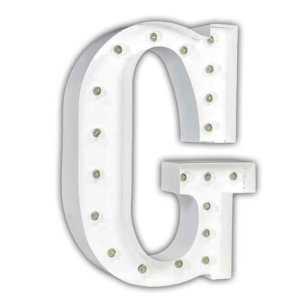 "24"" Marquee Letter Lights - 24"" Letter G Lighted Marquee Letters (White Gloss)"