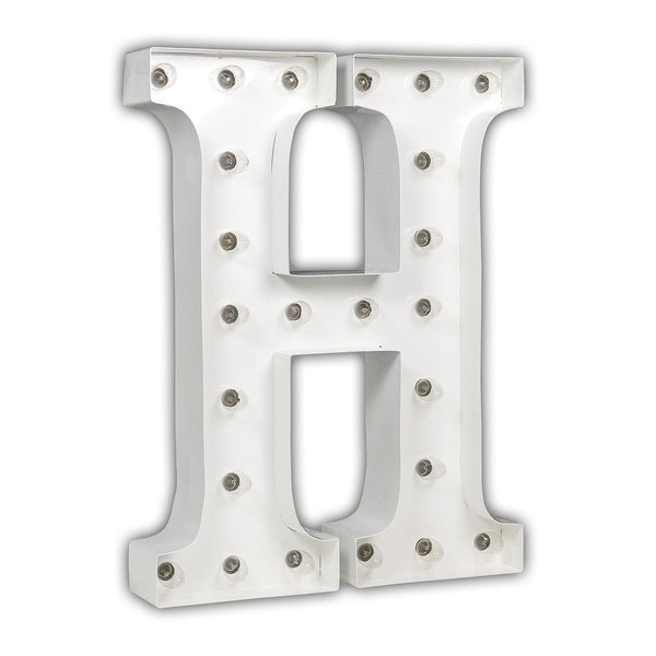 "24"" Marquee Letter Lights - 24"" Letter H Lighted Marquee Letters (White Gloss)"
