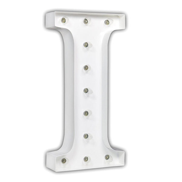 "24"" Marquee Letter Lights - 24"" Letter I Lighted Marquee Letters (White Gloss)"