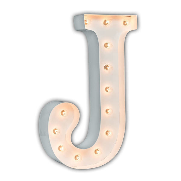 "24"" Marquee Letter Lights - 24"" Letter J Lighted Marquee Letters (White Gloss)"