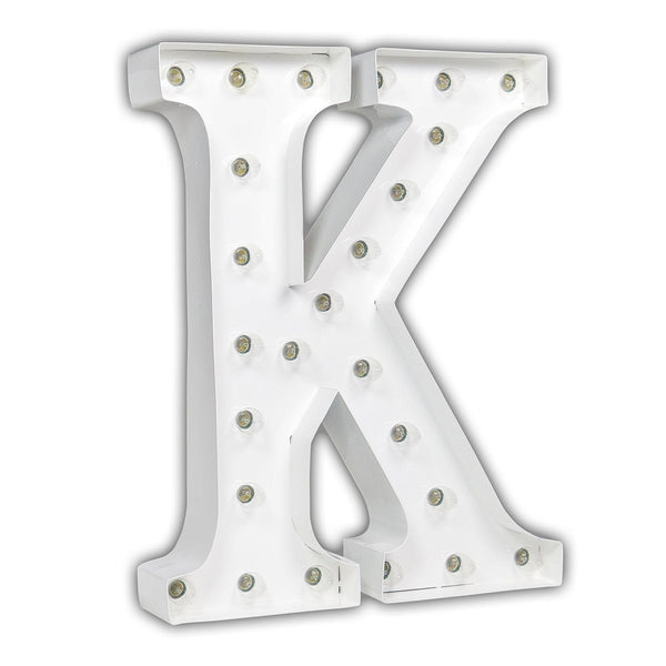 "24"" Marquee Letter Lights - 24"" Letter K Lighted Marquee Letters (White Gloss)"