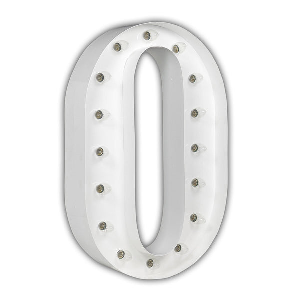 "24"" Marquee Letter Lights - 24"" Letter O Lighted Marquee Letters (White Gloss)"