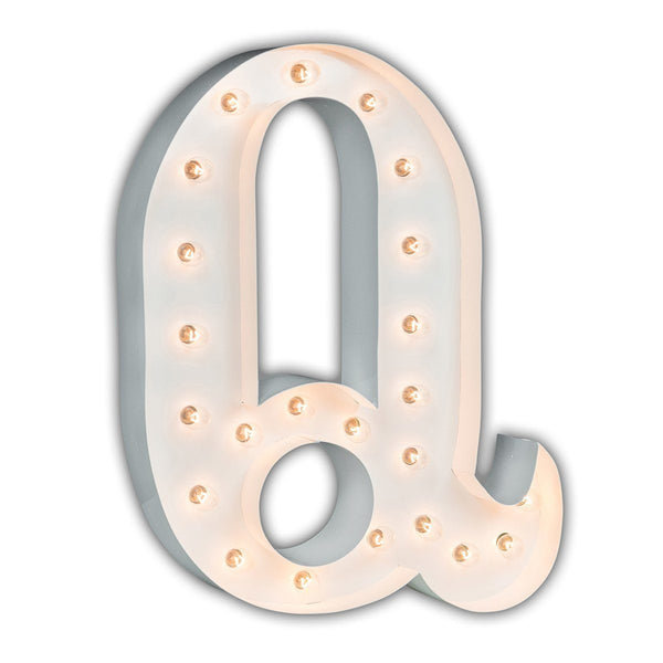 "24"" Marquee Letter Lights - 24"" Letter Q Lighted Marquee Letters (White Gloss)"