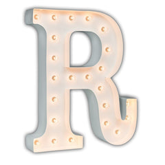 "24"" Marquee Letter Lights - 24"" Letter R Lighted Marquee Letters (White Gloss)"