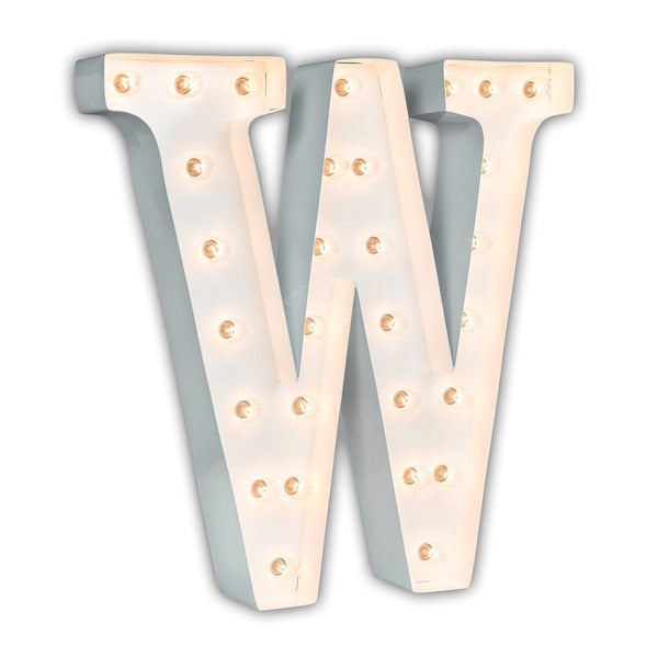 "24"" Marquee Letter Lights - 24"" Letter W Lighted Marquee Letters (White Gloss)"
