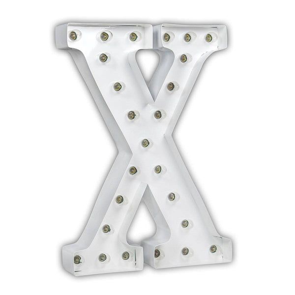 "24"" Marquee Letter Lights - 24"" Letter X Lighted Marquee Letters (White Gloss)"
