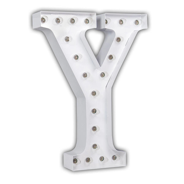 "24"" Marquee Letter Lights - 24"" Letter Y Lighted Marquee Letters (White Gloss)"