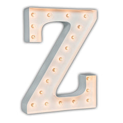 "24"" Marquee Letter Lights - 24"" Letter Z Lighted Marquee Letters (White Gloss)"