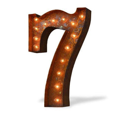 "24"" Number Marquee Lights - 24"" Number 7 (Seven) Sign Vintage Marquee Lights"