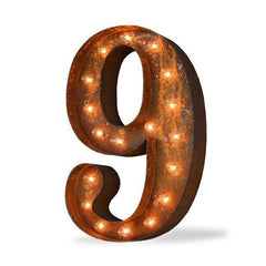 "24"" Number Marquee Lights - 24"" Number 9 (Nine) Sign Vintage Marquee Lights"