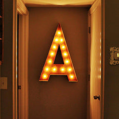 "36"" Marquee Letter Lights - 36"" Letter A Lighted Vintage Marquee Letters (Rustic)"