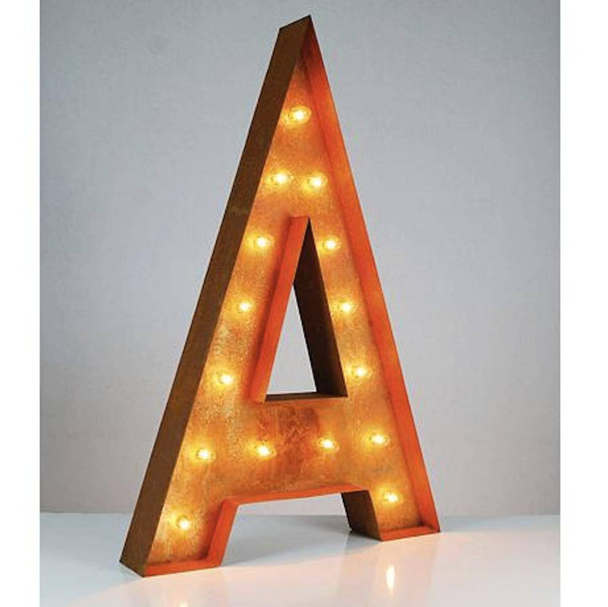"Tin Letters With Lights Simple 36"" Letter A Lighted Vintage Marquee Letters Rustic  Buy Design Decoration"