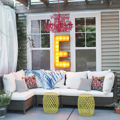 "36"" Marquee Letter Lights - 36"" Letter E Lighted Vintage Marquee Letters (Rustic)"