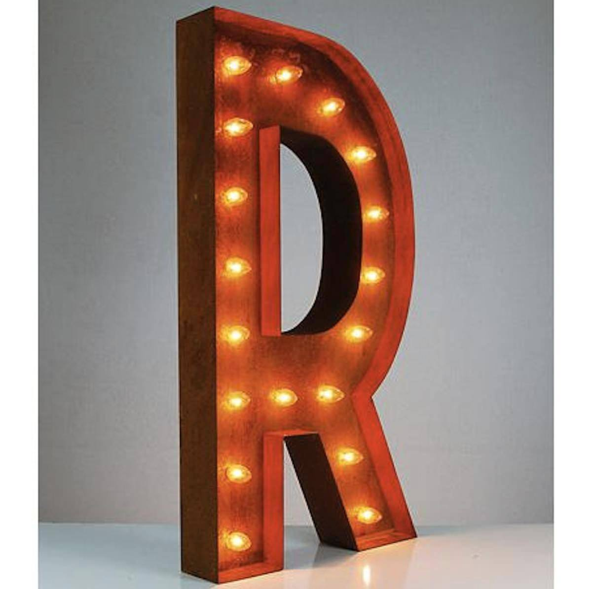 "Tin Letters With Lights Best 36"" Letter R Lighted Vintage Marquee Letters Rustic  Buy Decorating Inspiration"