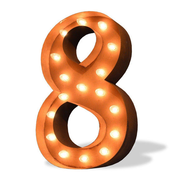 "36"" Number Marquee Lights - 36"" Number 8 (Eight) Sign Vintage Marquee Lights"