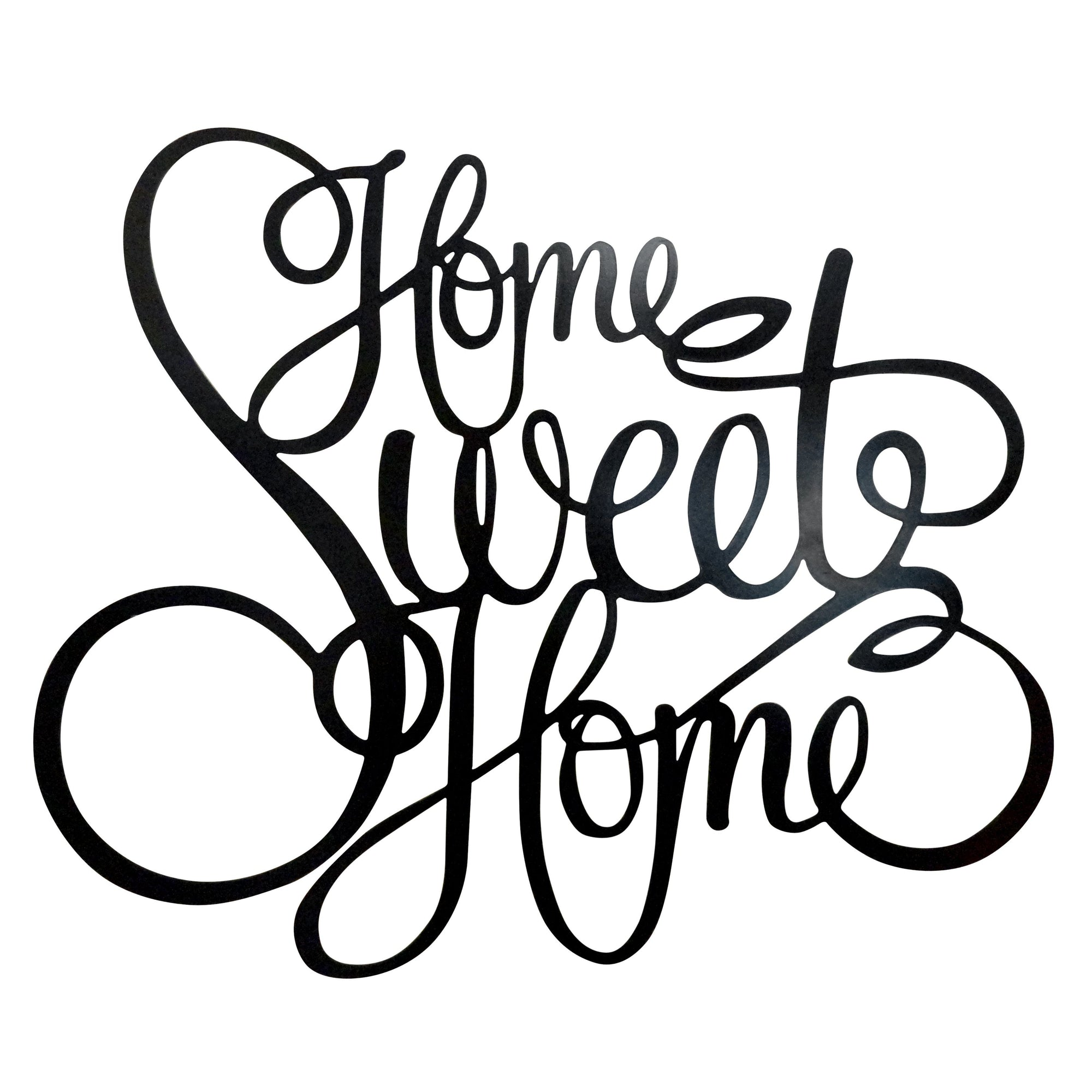 Home Sweet Home Laser Cut Metal Wall Decor Sign The Rusty Marquee