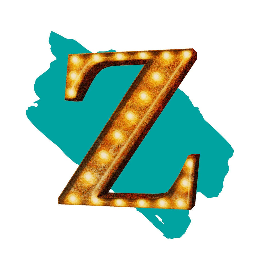 Light Up Letter Z - The Rusty Marquee