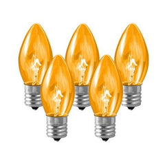 "Accessories - Replacement Bulbs 25-Pack (Clear Amber) For 24""/36"" Signs"