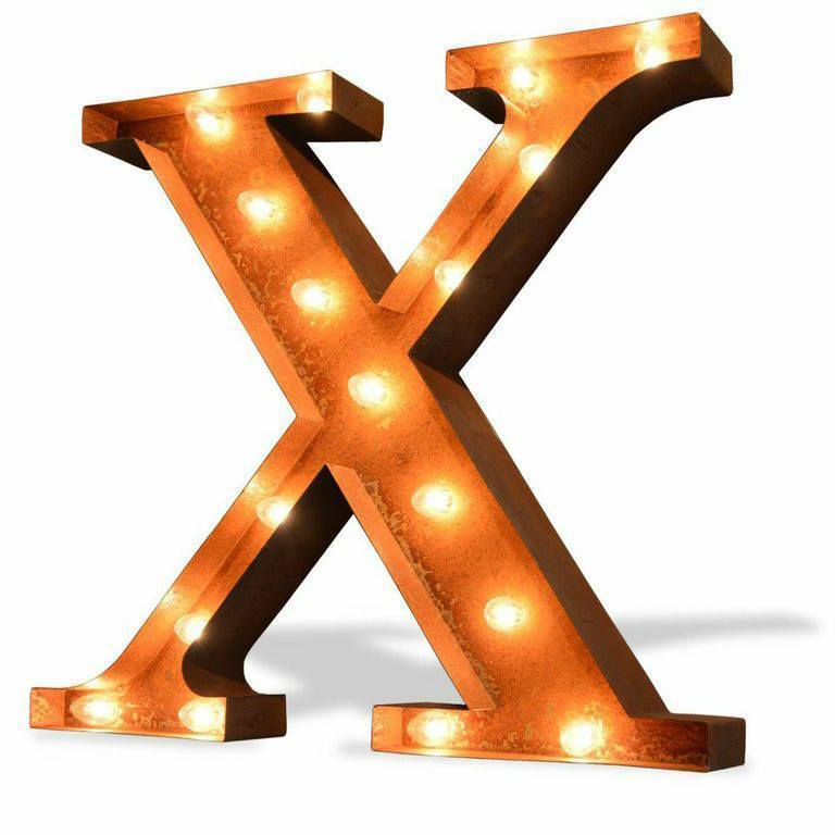 24 Greek Letters Vintage Lighted Marquee Rustic