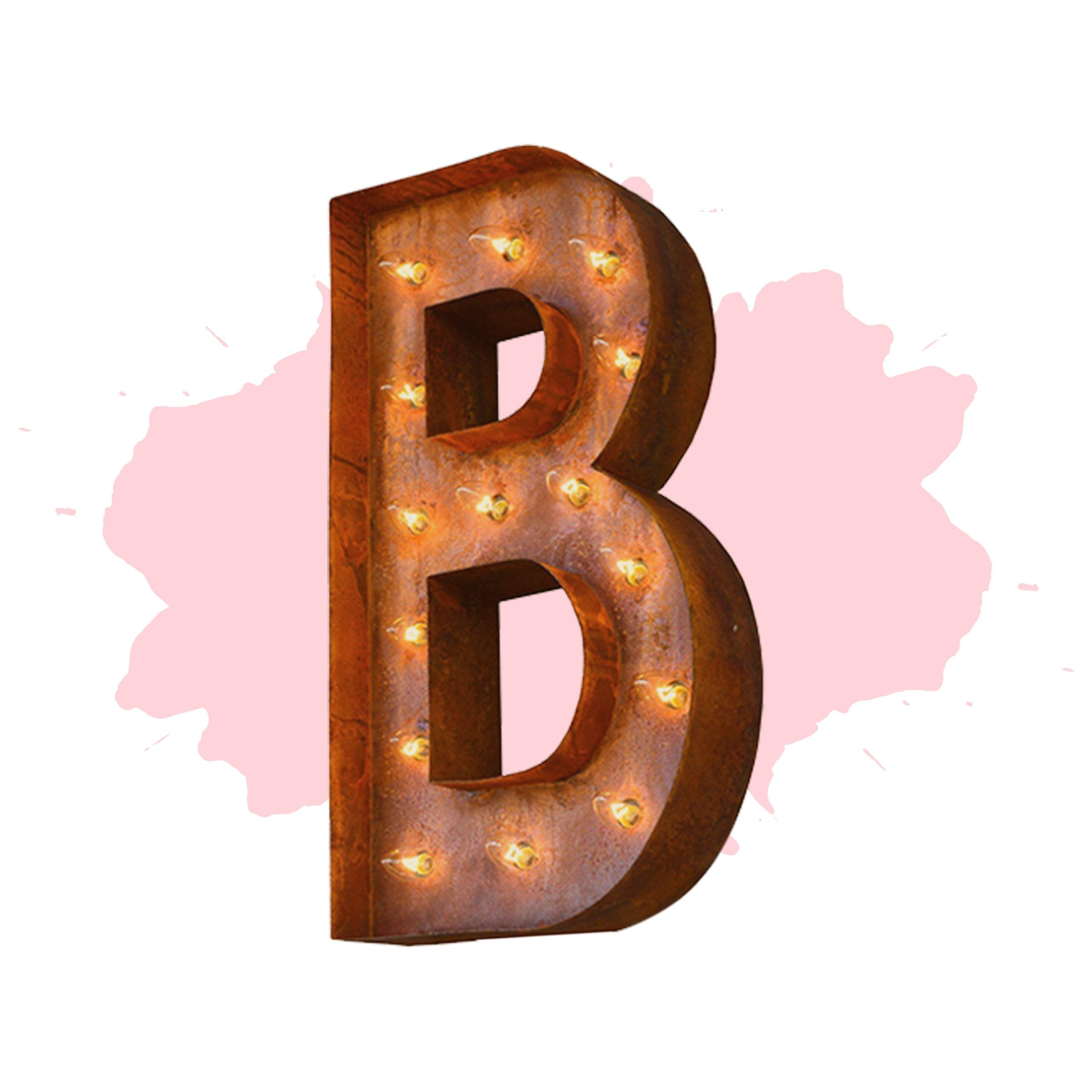 24 letter b lighted vintage marquee letters modern font for Large vintage marquee letters
