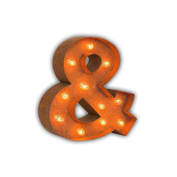 "Marquee Symbol Lights - 12"" Small Ampersand ""&"" Vintage Marquee Sign With Lights"