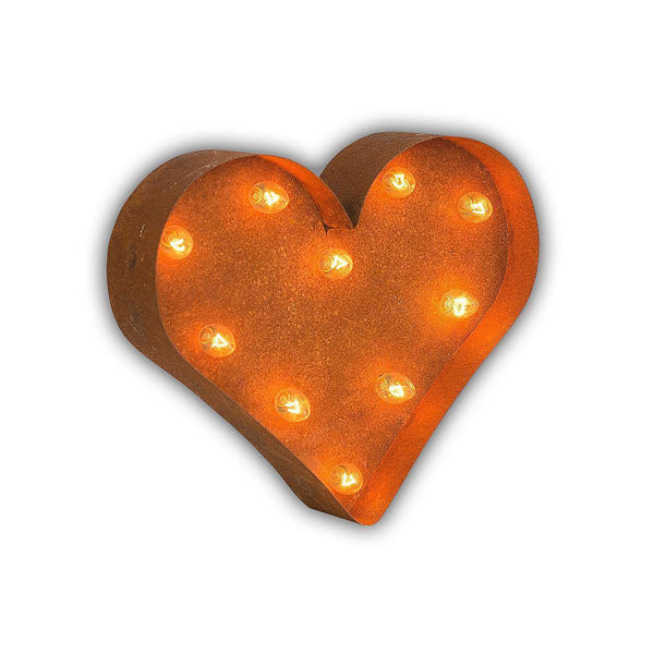 "Marquee Symbol Lights - 12"" Small Heart Vintage Marquee Sign With Lights"