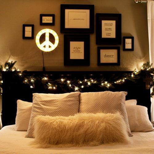 "Marquee Symbol Lights - 12"" Small Peace Sign Vintage Marquee Sign With Lights"
