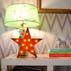 "Marquee Symbol Lights - 12"" Small Star Vintage Marquee Sign With Lights"