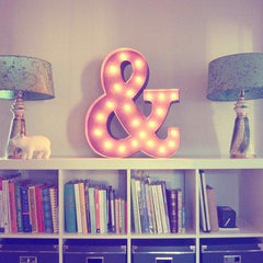 "Marquee Symbol Lights - 24"" Ampersand ""&"" Vintage Marquee Lights Sign (Rustic)"