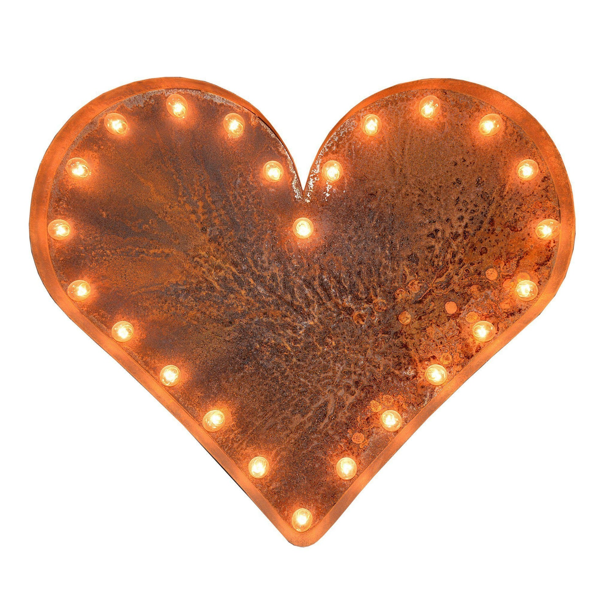 24 Heart Vintage Marquee Lights Sign Rustic Buy Marquee Lights Online The Rusty Marquee