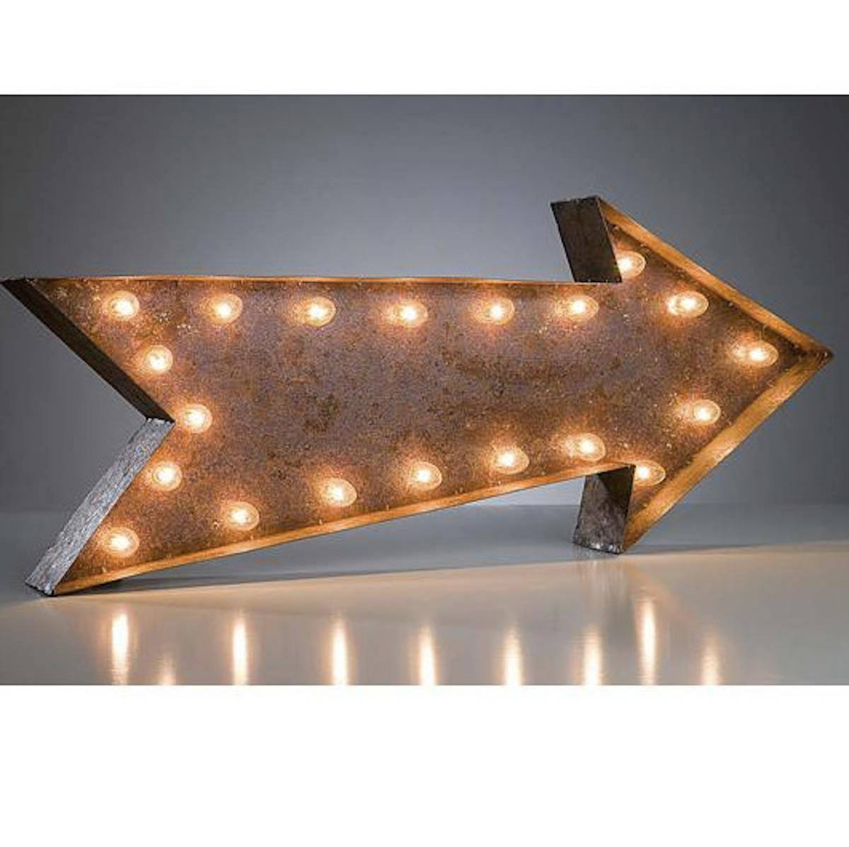 ... Marquee Symbol Lights - 36 Large Arrow Vintage Marquee Sign With Lights  (Rustic) ...