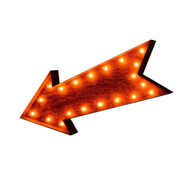 36 Large Arrow Vintage Marquee Sign With Lights Rustic