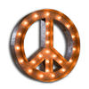 "Marquee Symbol Lights - 48"" Peace Sign Vintage Marquee Sign With Lights (Rustic)"